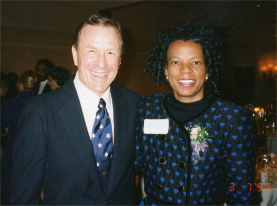 Gov. Ted Kulongoski and Armonica Gilford in 1997