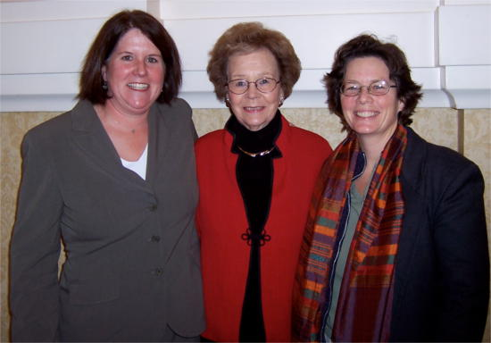 Jane Paulson, Hon. Betty Roberts, and Maureen Leonard