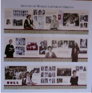 History of Women Lawyers in Oregon Poster