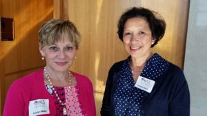 Advisory Board member Carolyn Wilson Miller with Advisory Board chair Cristina Sanz